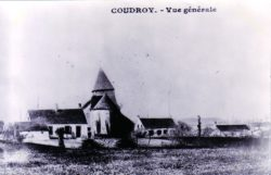 Photo ancienne d'une vue générale de Coudroy