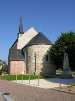 Vue de l'église de Châtenoy