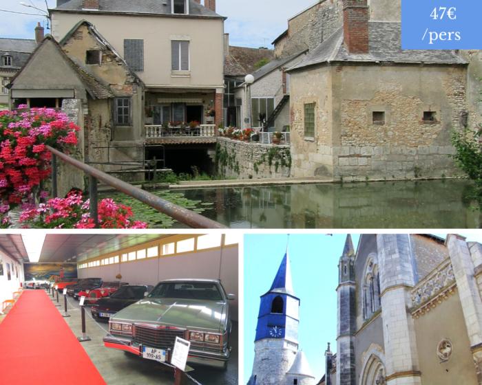 Excursions groupes découverte de Châtillon coligny, vieille ville, autosportmuseum voitures anciennes