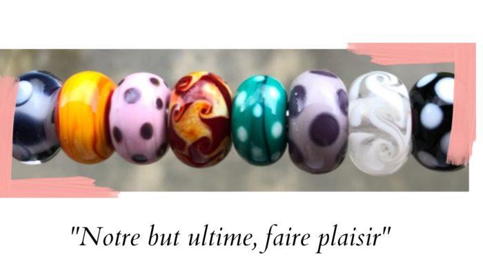 exemple de la variété de couleurs des perles réalisées par Julien Chenault