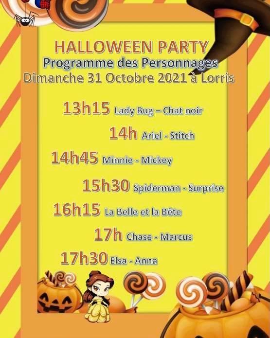 31-10 Lorris programme Halloween