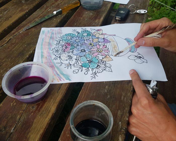 La Ferme Coqalane – Atelier peinture végétale
